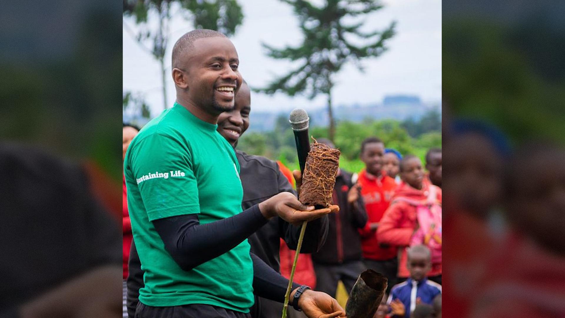 Michael Waiyaki Planting five **million** trees
